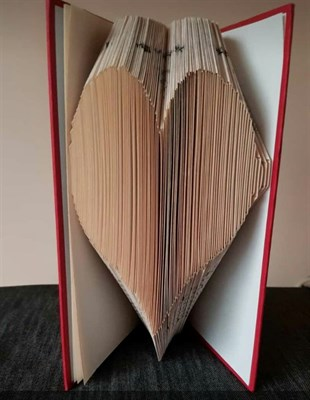 Book Art - Heart