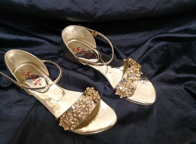 Flat Partywear Golden Sandals