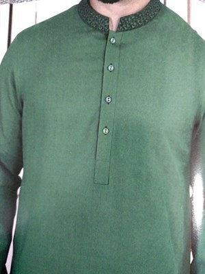 Embroidered Kurta with Shalwar Suit (Made on Order)
