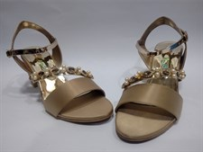 Beige High Heel Sandals
