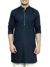 Designer Kurta with White Shalwar Suit (Made on Order)