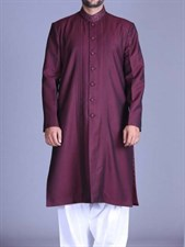 VIP Kurta with White Shalwar Suit (Made on Order)