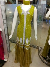 Lemon Green Gharara